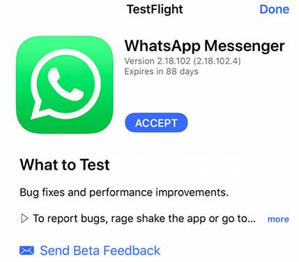 betas publicas whatsapp ios