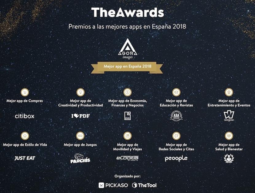 theawards 2018 mejores aplicaciones
