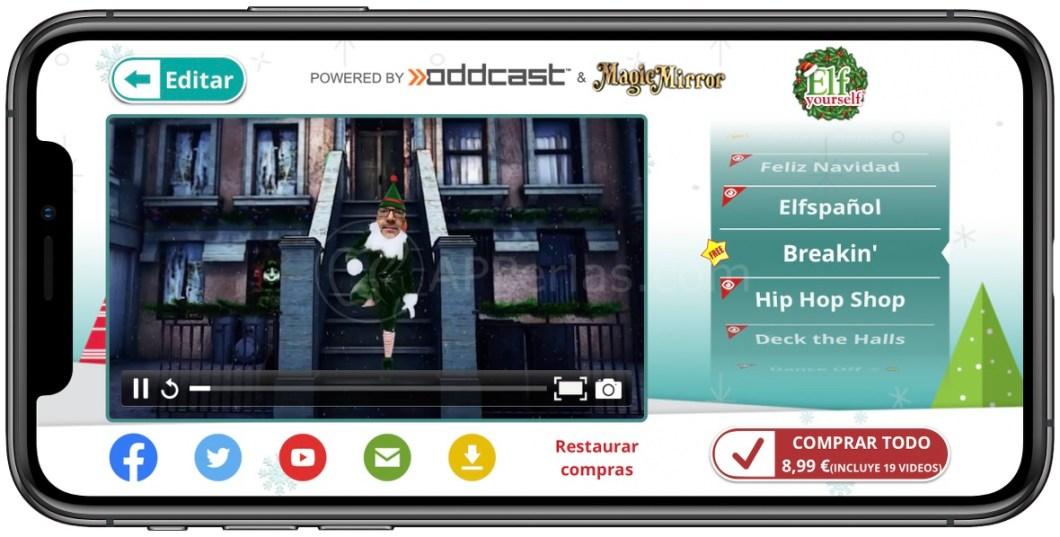 Comparte y/o descarga en el iPhone el baile de navidad