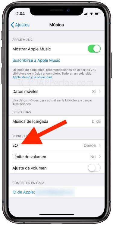 EQ de iOS