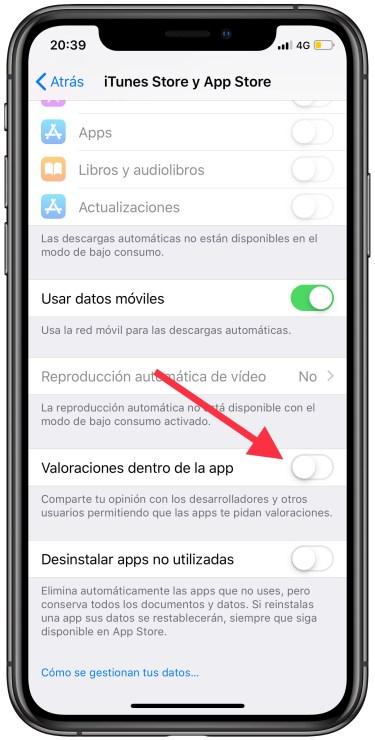 valoraciones dentro de las apps 1