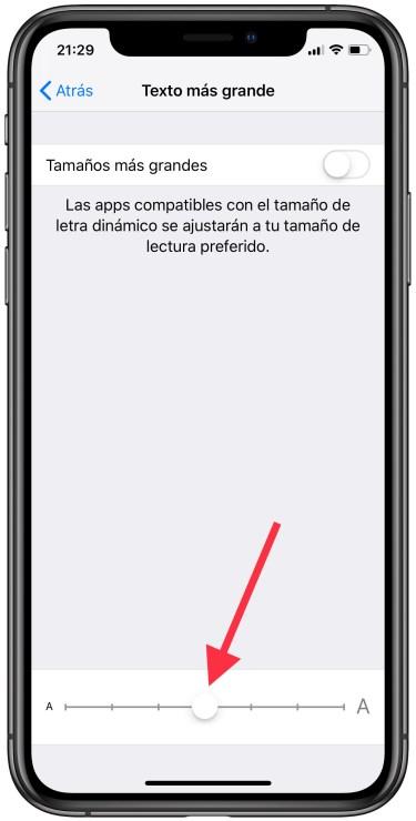 letra del iPhone más grande 2