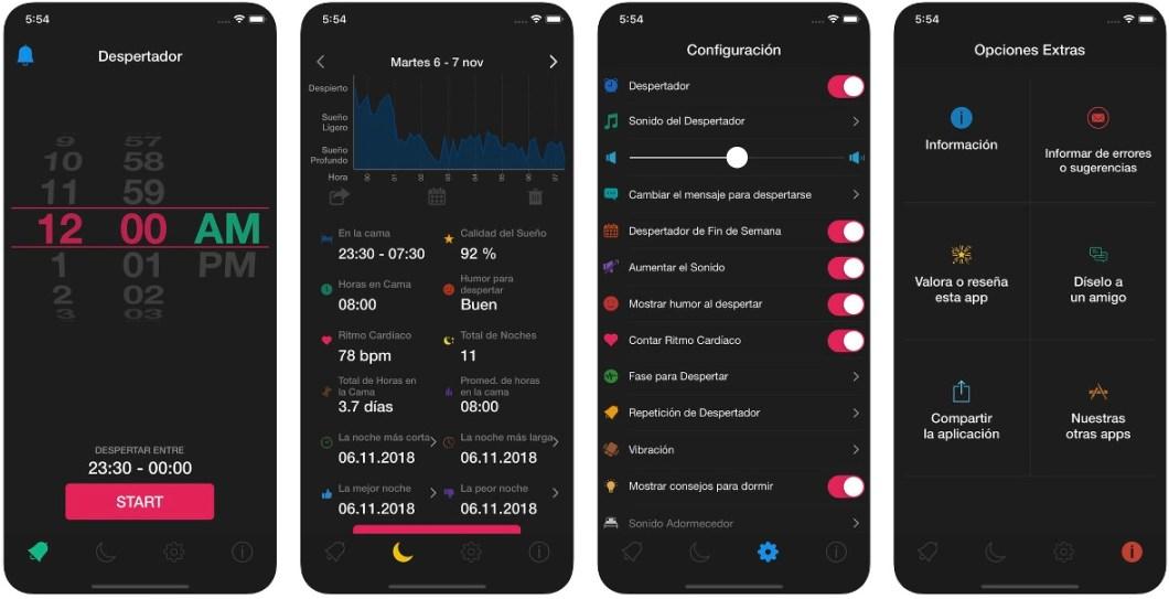 App para monitorizar el sueño