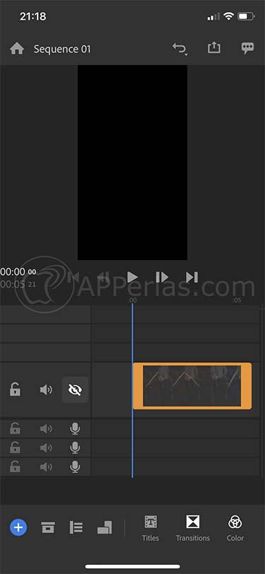 editar vídeos desde iphone adobe premiere rush cc 2