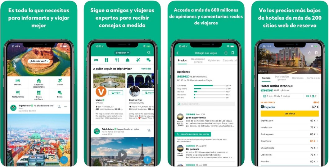 App de TripAdvisor para iOS