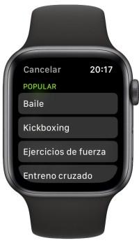 deportes ocultos del Apple Watch 2
