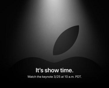 ¡¡¡CONFIRMADO!!! tendremos Keynote de Apple el 25 de marzo