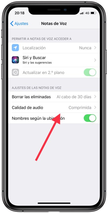 notas de voz en el iPhone  1