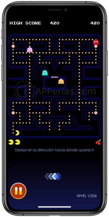 Juego de Pacman en iPhone