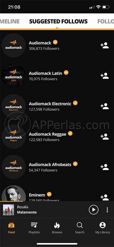 app de música en streaming gratis audiomack 3