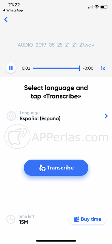 audios de WhatsApp a texto transcribe 2