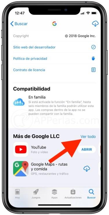 Accede a todas las apps de Google