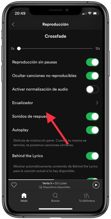 ecualizador de Spotify 1
