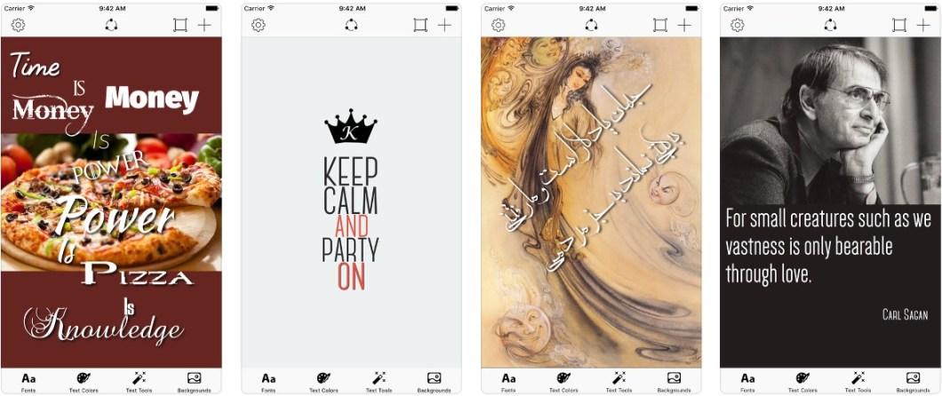 App de fuentes tipográficas para fotos