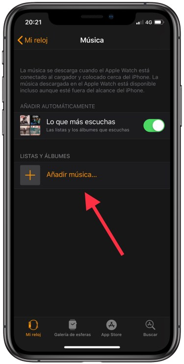 música al Apple Watch 2