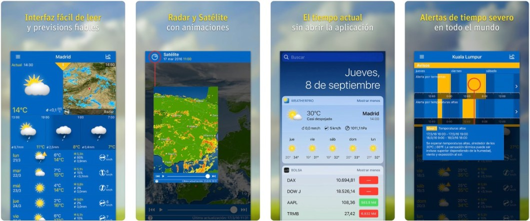 WeatherPro para iOS
