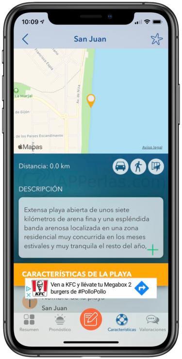 Ubicación y más información de la playa