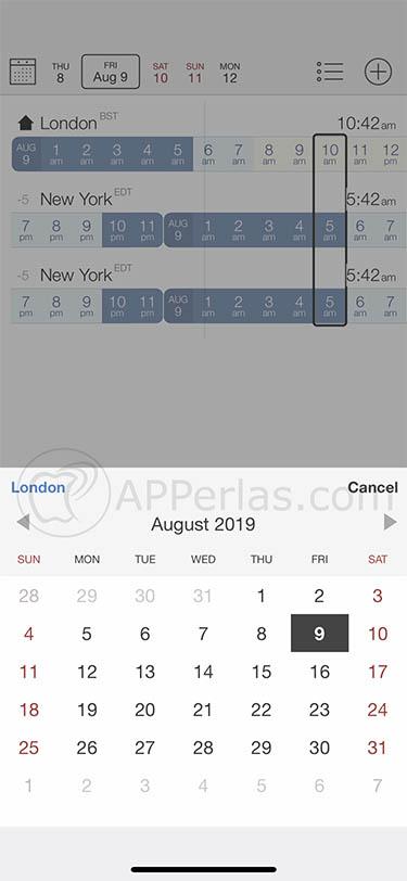 app de zonas horarias time buddy 3