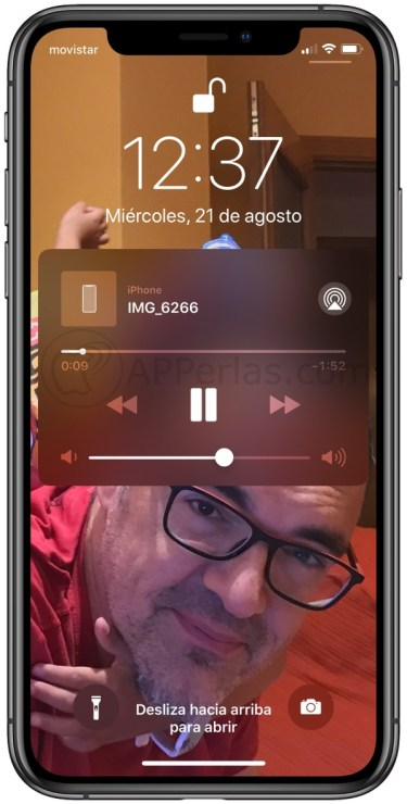 Escuchando vídeo de Youtube con iPhone bloqueado