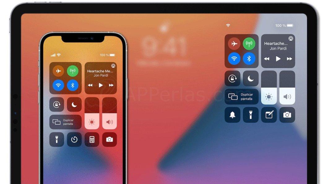 Centro de control de iOS