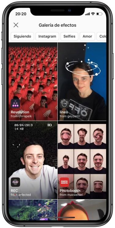 nuevos efectos para Instagram 2