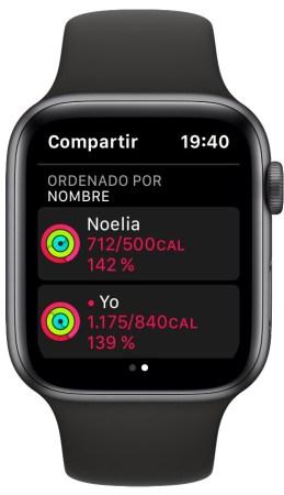 Apple Watch cambiar objetivos diarios anillos
