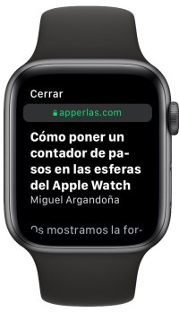 web desde el Apple Watch 3