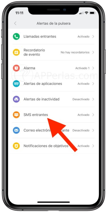 Notificaciones de SMS