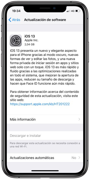 iOS 13 en el iPhone 1
