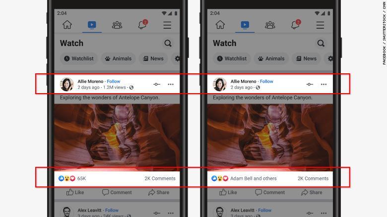 Ocultar los likes facebook me gusta visualizaciones Instagram