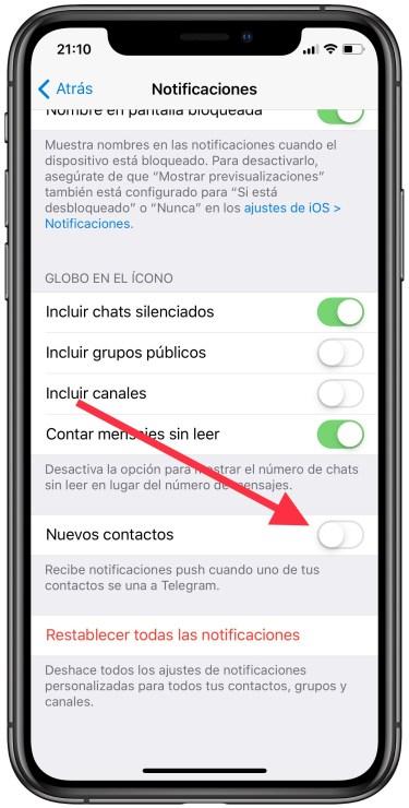 nuevos contactos en Telegram 1