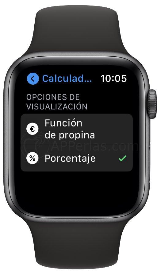 Configurando la calculadora del Apple Watch
