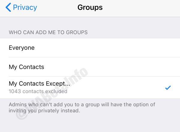 whatsapp impedir añadir grupos sin permiso iphone ipad ios 1