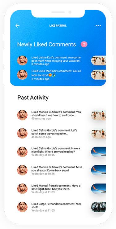 Eliminada del App Store una app que espiaba a usuarios en Instagram like patrol 2