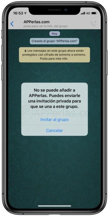 Invitar a un contacto a un grupo de WhatsApp