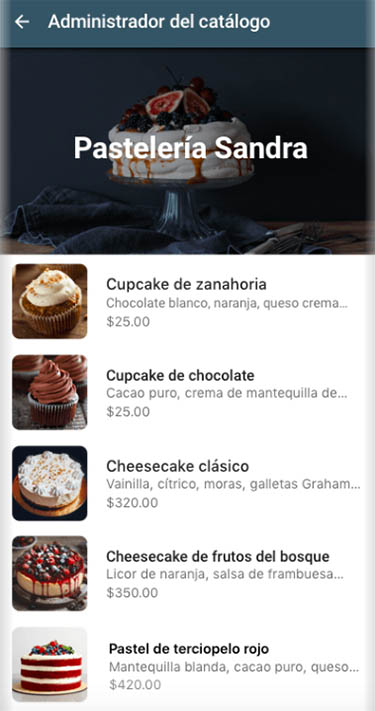 nueva función catálogos whatsapp business