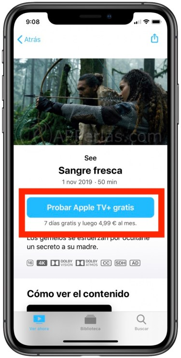 Periodo de prueba gratis en Apple TV+