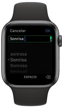 escribir más rápido con el Apple Watch 2