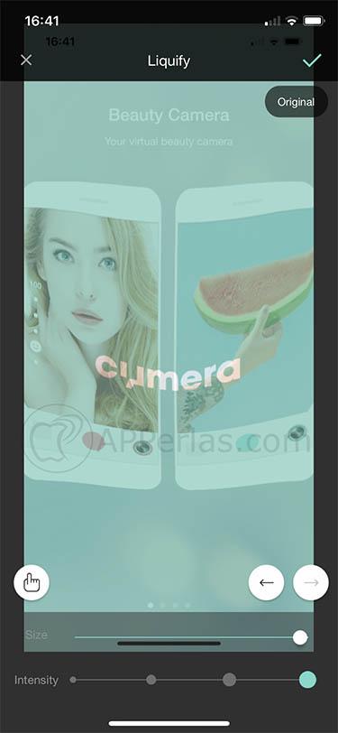 editor de selfies selfis cymera 2