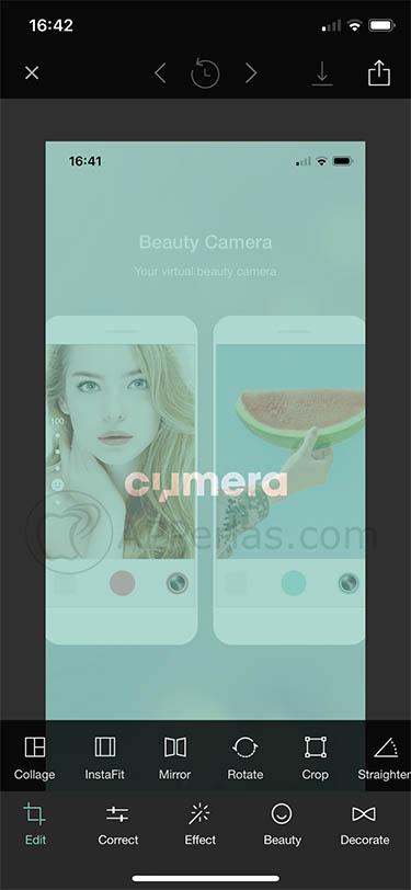 editor de selfies selfis cymera 3