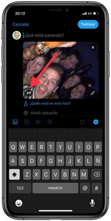 live photo como GIF en Twitter 1