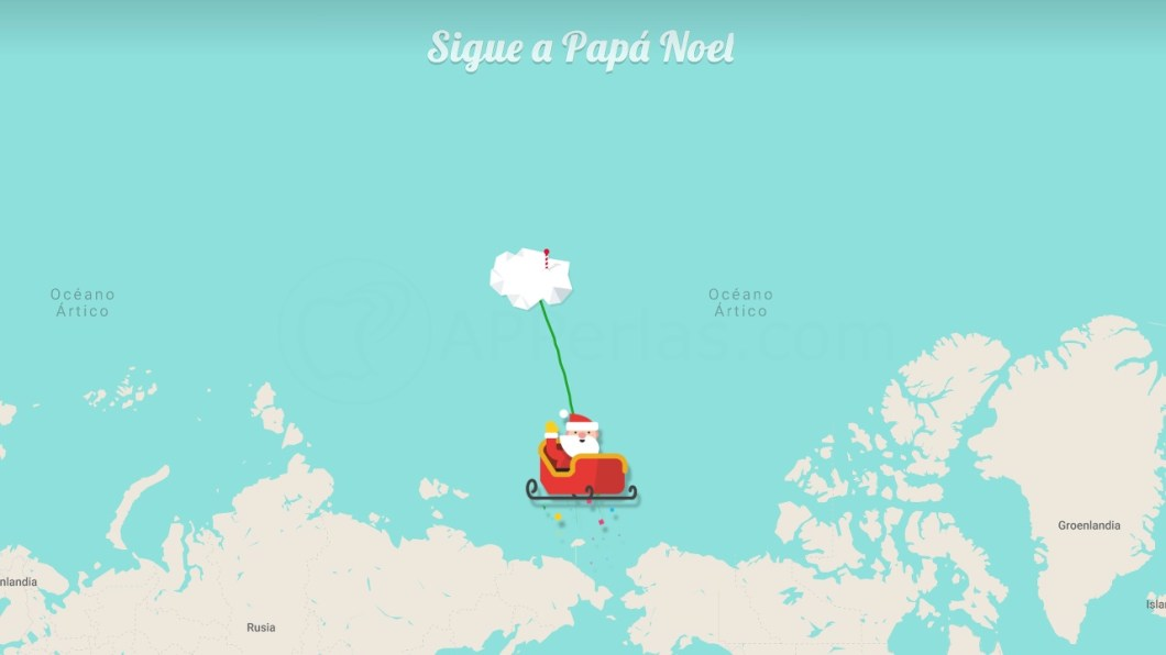 Por dónde va Papá Noel