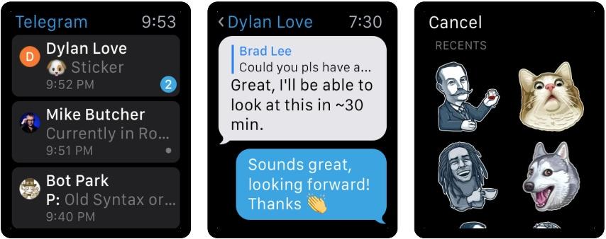 Telegram para Apple Watch