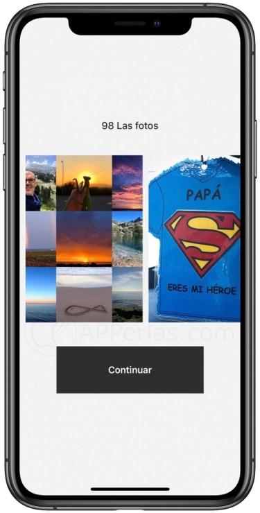 Interfaz de app Best 9