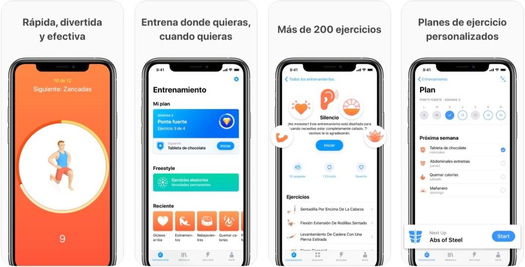 App de entreno para iPhone