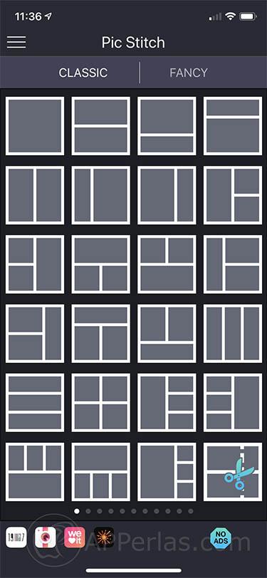 app para juntar fotos pic stitch iphone 2