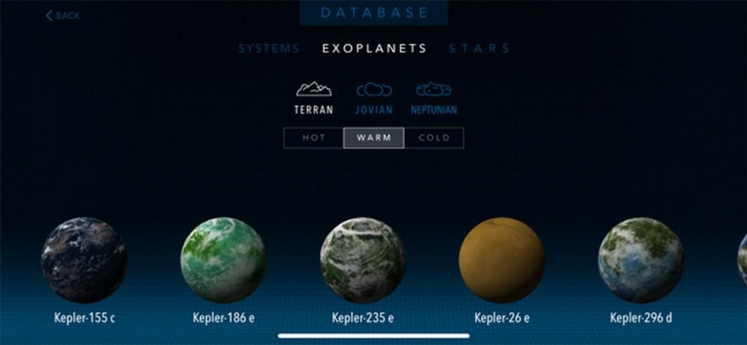 App de astronomía para iOS