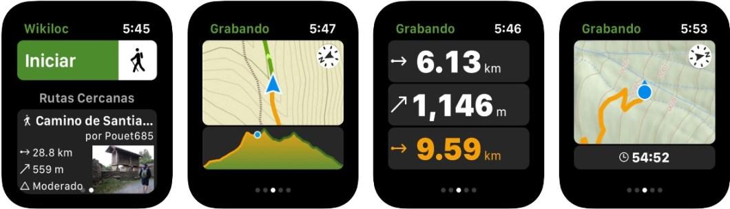 Wikiloc para Apple Watch