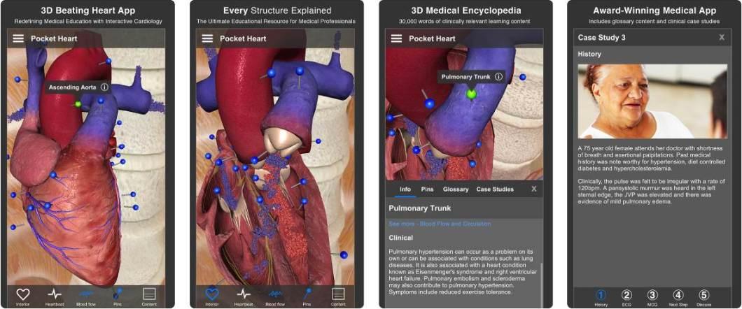 App sobre el corazón
