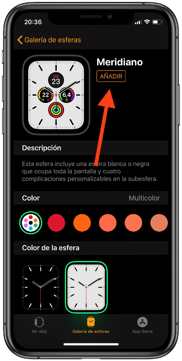 descargar las esferas del Apple Watch 2